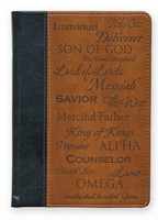 Exkluzív műbőr angol napló Names of Jesus (Lux Leather)