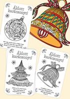 Karácsonyi színezős kártyák