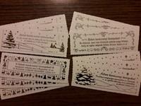 karácsonyi cakkos könyvjelzőcsomag (12 db) (Csomag)