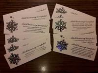 karácsonyi hologramos könyvjelzőcsomag (12 db)