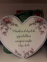 szív alakú falitábla rózsákkal Minden dolgotok... (Fa)