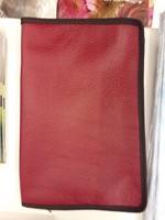 bőr borító EFO bibliára piros (Bőr)