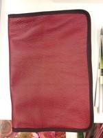 bőr borító kis családi Károli Bibliára piros (Bőr)