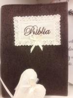 szövet borító közepes revideált új fordítású Bibliára sötétbarna