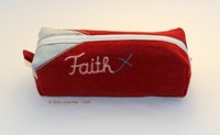 Szövet tolltartó Faith bordó (Szövet)
