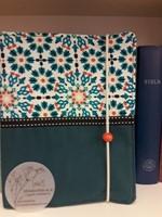 Szövet borító közepes revideált új fordítású Bibliára sötét türkiz (Szövet)