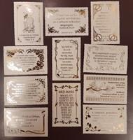 Minikártya-csomag cakkos, aranyozott