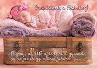 Képeslap-csomag Alvó baba rózsaszín