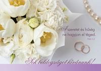 Esküvői képeslap-csomag Fehér tulipánok és rózsák