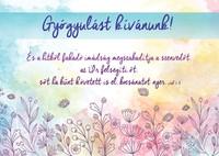 Képeslap-csomag Gyógyulást kívánunk! Pasztell virágrajz
