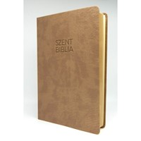 Biblia Károli nagy drapp sima (Műbőr)