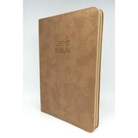 Biblia Károli nagy drapp regiszteres, cipzáras (Műbőr)