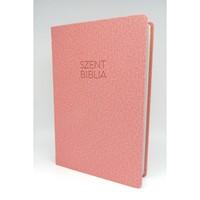 Biblia Károli nagy rózsaszín sima (Műbőr)