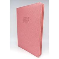 Biblia Károli nagy rózsaszín regiszteres, cipzáras (Műbőr)