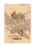 Keménytáblás angol napló Life Is a Great Story