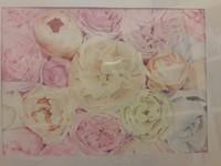 Akvarell festmény Pünkösdi rózsák (Keretezett)
