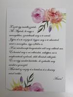 Miniposzter Miatyánk (rózsák)