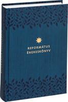Református énekeskönyv (sötétkék, levélmintás)