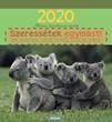 Képeslapos falinaptár 2020 Állatos naptár